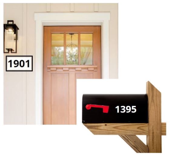 Door and mailbox each