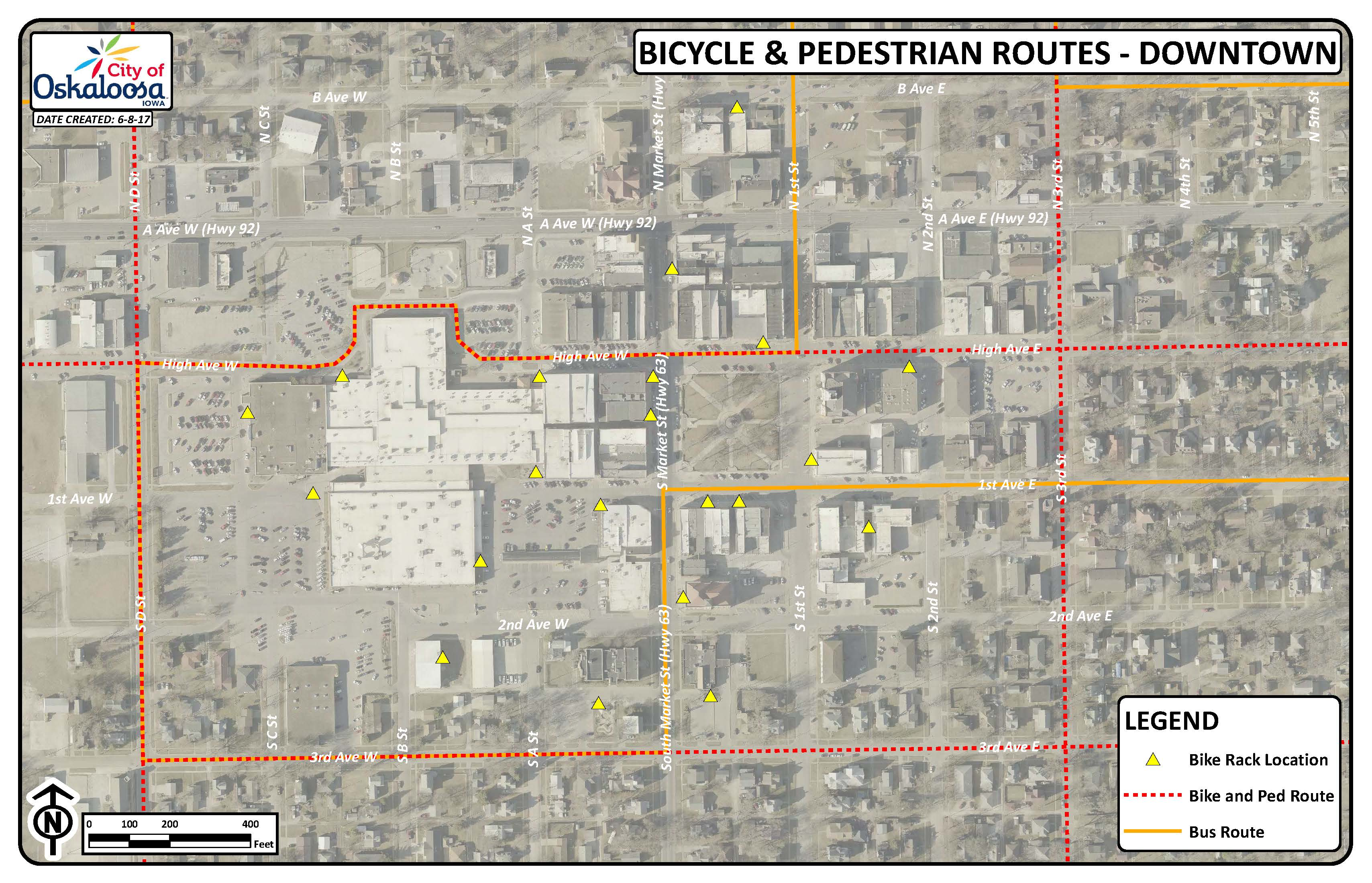 Downtown Routes Map